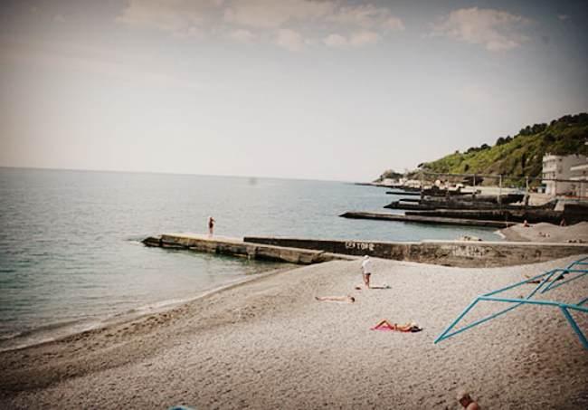 Пляж санатория Черноморье