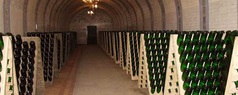 Подвалы завода шампанских вин в Новом Свете