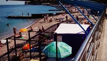 """Пляж """"Молодёжный"""" в Гурзуфе"""