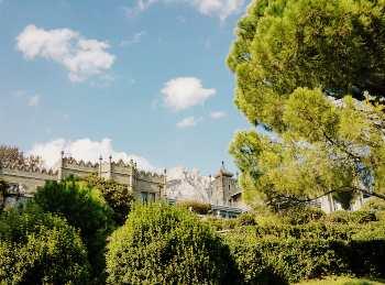 Парк с видом на на воронцовский дворец