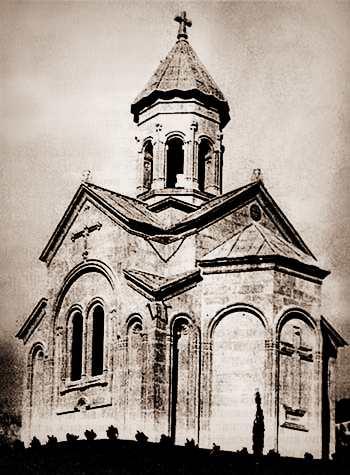 Церковь святой Нины в Гаспре - вид в старину