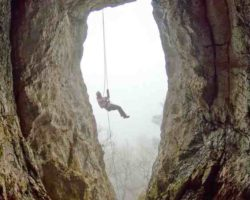 Дюльфер в Ставрикайскую пещеру