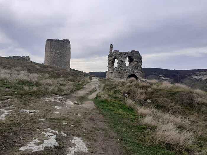 Вид крепости Каламита